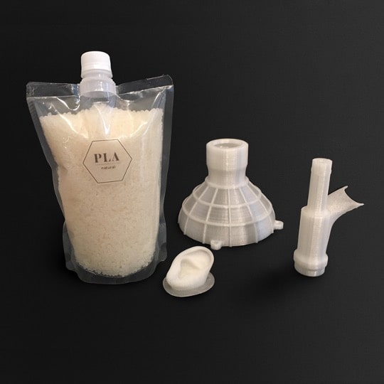 PLA PLA Natural - Polylactic acid industrial materials injection molding 3D printer pellets granules performance commodity multi-material