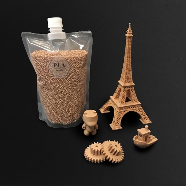 PLA Woodfill - Polylactic acid Woodfill industrial materials injection molding 3D printer pellets granules performance commodity multi-material