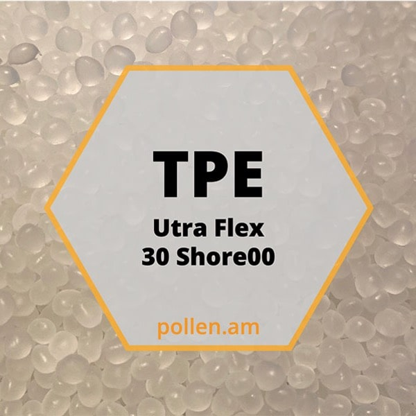 TPE Ultra Flex - 30 Shore 00 industrial materials injection molding 3D printer pellets granules performance commodity multi-material