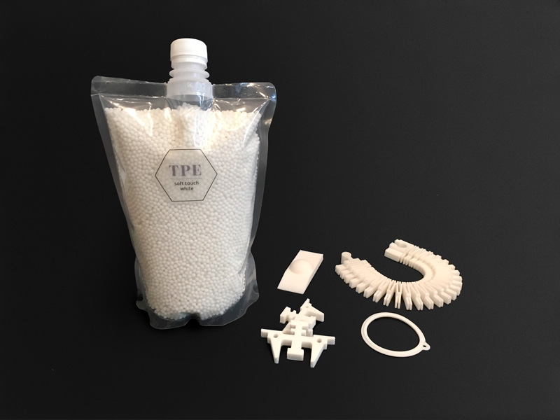 TPE Soft Touch - 60 Shore A industrial materials injection molding 3D printer pellets granules performance commodity multi-material